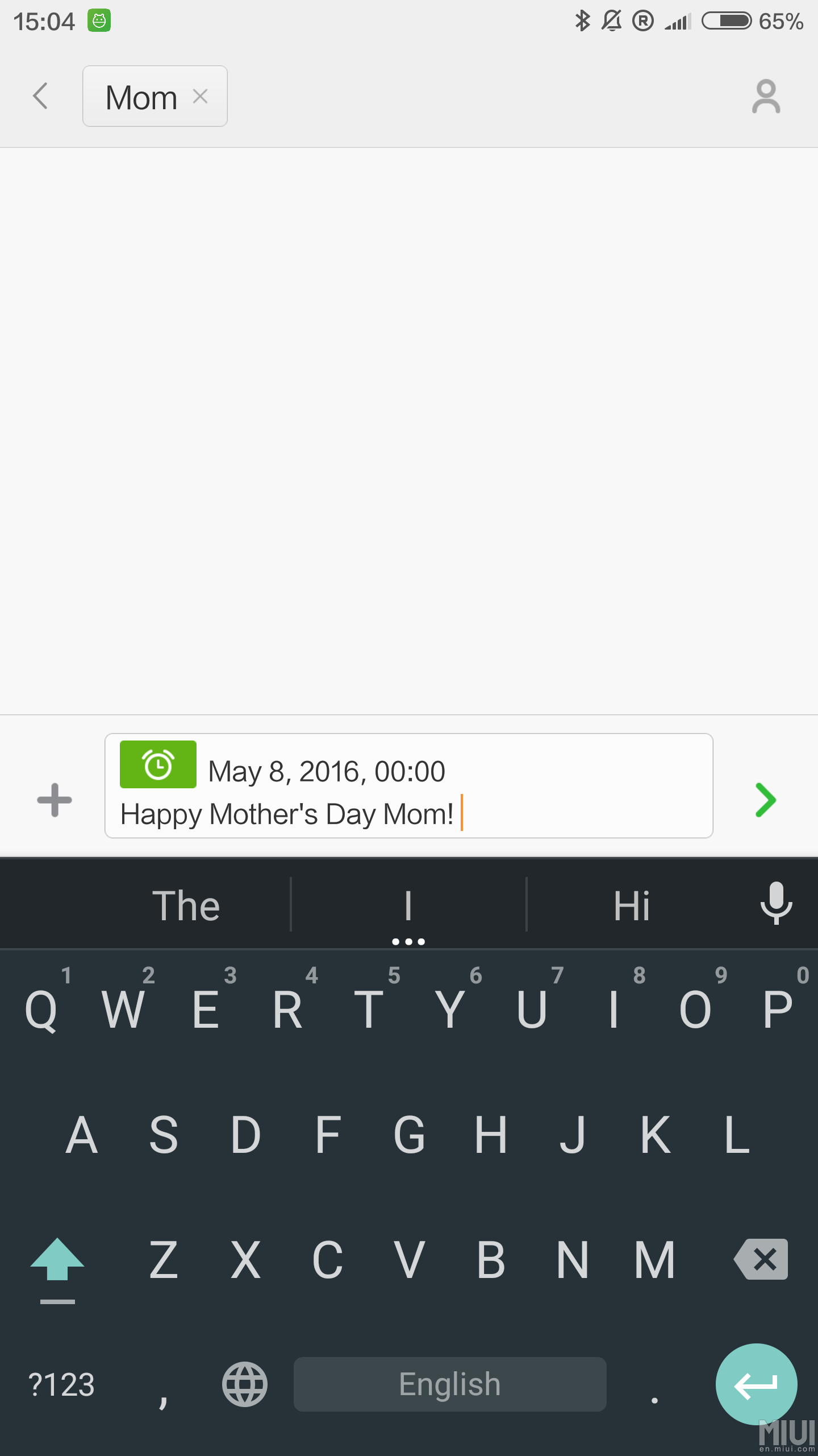 MIUI Timed Message