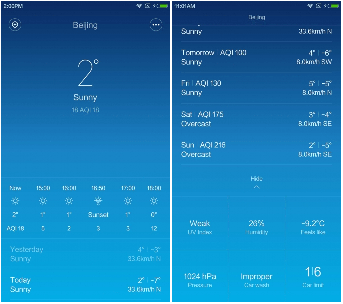 [Weather] Brand new UI for Weather app. Hourly forecast supported.