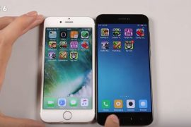 Speed Test mi 5c vs iphone 6