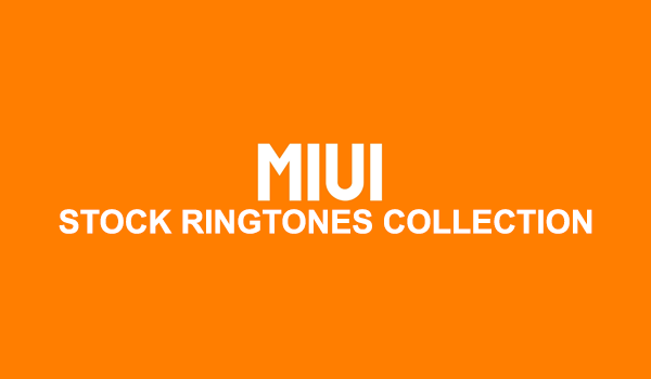 MIUI 1 to MIUI 8 stock ringtones