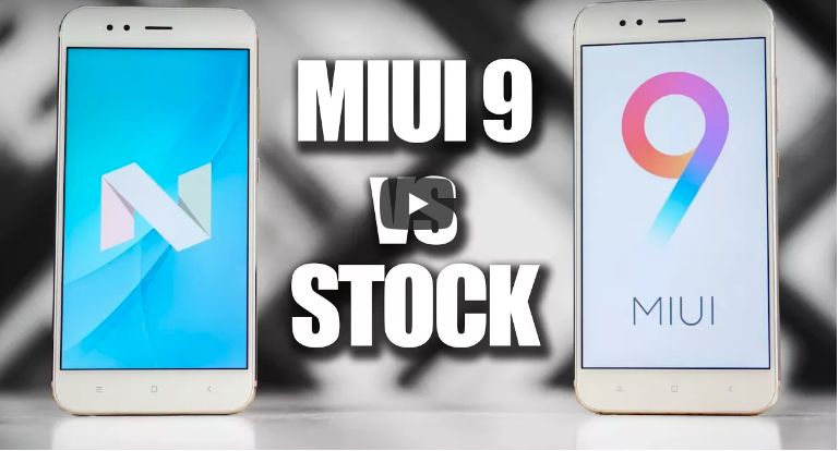 stock amdroid vs miui 9