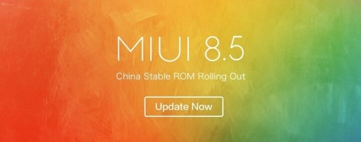 MIUI 8.5 China Stable ROM V8.5.10.0.NDFCNED