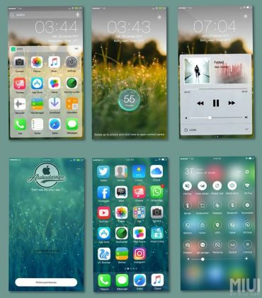 most popular iOS themes for MIUI 8