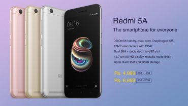 Xiaomi launches Redmi 5A in India