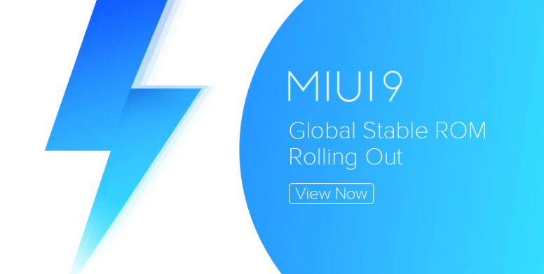 MIUI 9 Global Stable ROM V9.2.1.0